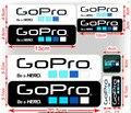 Venta caliente 9 unids Go Pro Hero 4 Etiquetas de Gopro Hero 3 icono de Etiquetas Adhesivas Etiqueta Engomada Para Hero 2 Hero3 + Gopro Accesorios Gopro GP101