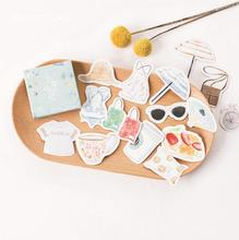 Girl Heart Colorful Clothing Summer Decorative Stationery Stickers Scrapbooking DIY Diary Album Stick Label