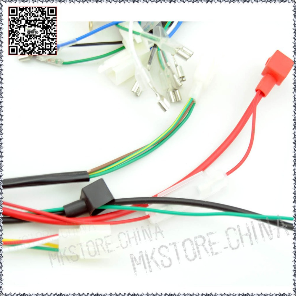 quad wiring harness 200 250cc chinese electric start loncin zongshen  quad wiring harness 200 250cc chinese electric start loncin zongshen ducar lifan free shipping in atv parts & accessories from automobiles & motorcycles on