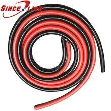 Fil de Silicone 1m 12awg 14awg 15awg 16awg 18awg 20awg 22awg 26awg 28awg 30awg noir rouge résistant à la chaleur câble de Gel de silice souple