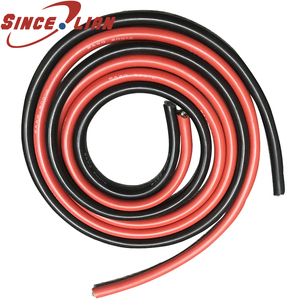 1m Silicone Wire 12AWG 14AWG 15AWG 16AWG 18AWG 20AWG 22AWG 26AWG 28AWG 30AWG Black Red Heatproof Soft Silicone Silica Gel Cable(China)