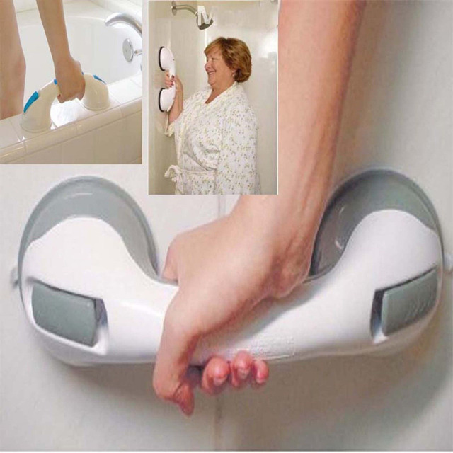 2pcs/lot Free Shipping Safety Tub Bath Bathroom Portable Grab Bar Handle  Suction Shower Tub