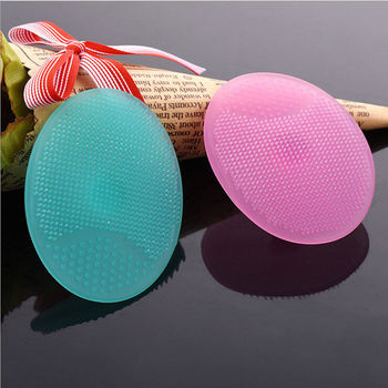 1Pcs Soft Brush Facial Care Exfoliating Brush Infant Baby Soft Silicone Wash Face Cleaning Pad Skin SPA Scrub Cleanser Tool