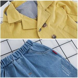 Image 5 - Conjunto de ropa de trenca para niños, prendas de abrigo y abrigos para niño y niña, abrigo de 3 uds, camiseta y pantalones de 1, 2, 3 y 4 años