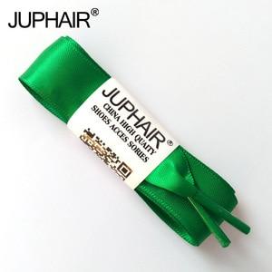 JUP1-12 Pairs Grass Green Fashion Wholesal Fantastic Princess Women Girl Lady Flats Silk Ribbon Shoelaces Sneaker Shoe Fantastic