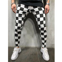 Мужские повседневные спортивные брюки, облегающие брюки для бега, спортивные штаны в полоску, мужские черные модные штаны с эластичной рези...