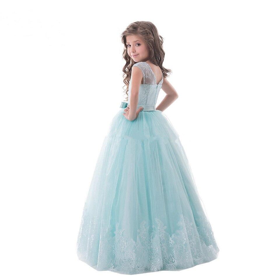 2017 Pretty Flower Girl Dress Ball Gown Lace Tulle Little Girl
