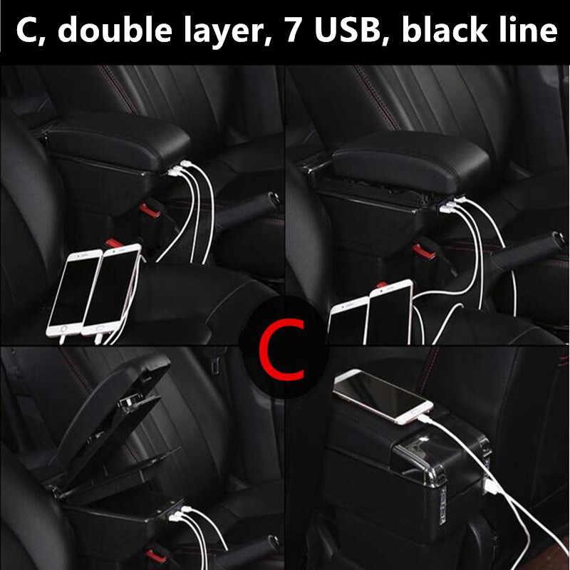 Pour MINI Cooper R50 R52 R53 R56 R57 R58 F55 F56 F57 Countryman R60 F60 Accoudoir boite auto accessoires coiffure