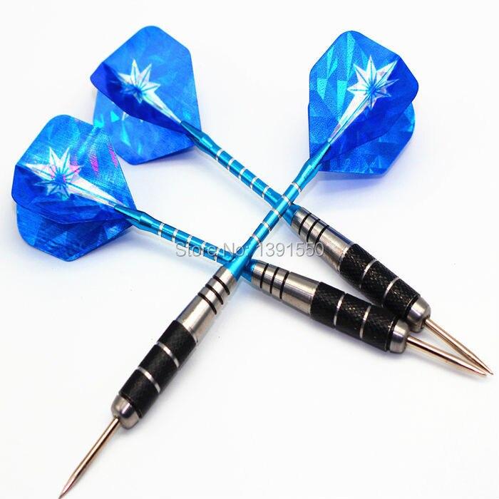 Бесплатная доставка 22 г 3 шт./1 комплект из Нержавеющаясталь Совет Дартс с голубой Алюминий alu Dart Валы лазерной Стандартный перелёты
