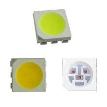 1000 pcs PLCC-6 5050 SMD 3-CHIPS White 6000-6500K 10000mcd LED Bulb Strip Light цена