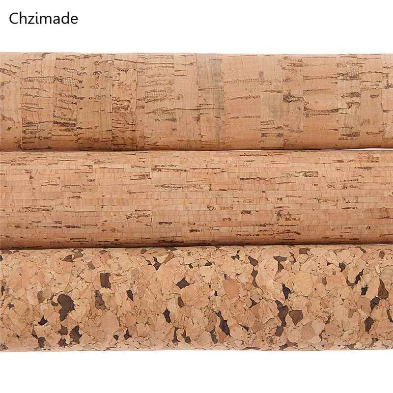 Chzimade 21x29cm A4 Soft Cork PU Fabric High Quality Wood Grain Synthetic Leather DIY Material For Handbag Belts Garments