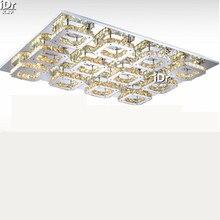Новый 12 глава Горячая продажа Алмазный СВЕТОДИОД потолочный светильник современная спальня кристалл потолочные светильники Освещения Гостиницы L900xW680xH80MM