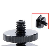 One Nut Mount Tripod Screw Adapter 1/4 to Flash Shoe Mount For Tripod DSLR Camera Flash Hot Shoe