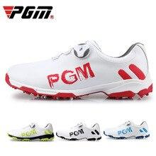 2018 обувь для гольфа мужские кожаные водостойкие шнурки для кроссовок деятельность ногтей автоматический вращающийся шипы Breatheble Гольф обувь D0472