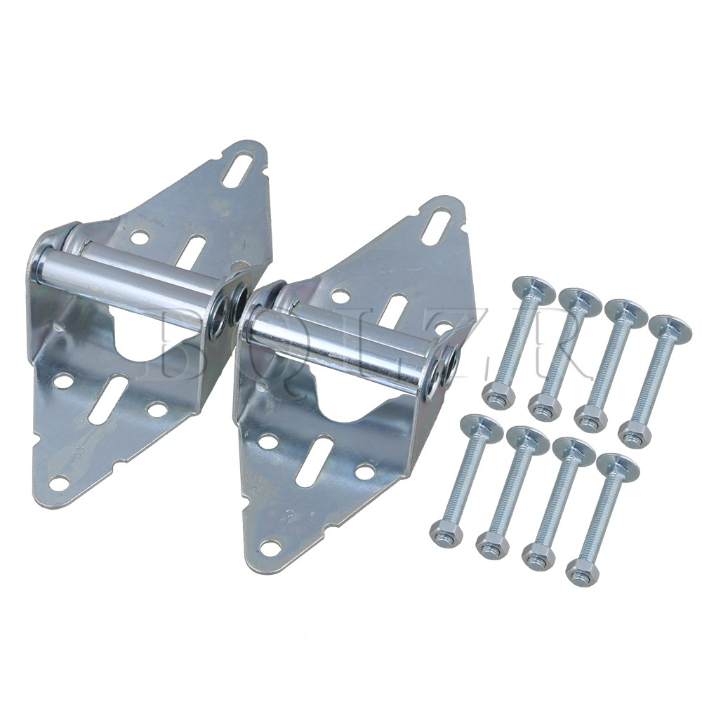 2PCS Heavy Duty Garage Door Hinges Replacement 3# Hinge with Bolt & Nut BQLZR 1 pair viborg sus304 stainless steel heavy duty self closing invisible spring closer door hinge invisible hinges jv4 gs58b