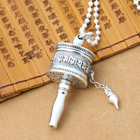 Aliexpress buy real 925 silver tibetan om mantra prayer wheel real 925 silver tibetan om mantra prayer wheel pendant vintage sterling silver tibetan wheel pendant buddhist mozeypictures Gallery