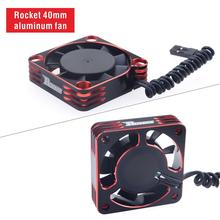 Rocket Cooling Fan 40mm Alloy fan Rotates at 16000 rpm 8.5V for 1/10 1/8 RC car 540 550 3650 brushless rc motor fast cooling fan skyrc bma 01 brushless motor analyzer tester rpm kv voltage timing noise amp hall checker motolyzer for rc car part with lcd