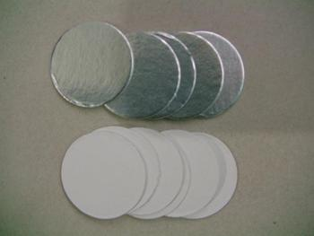 Free ship For induction sealing 21mm plactic laminated aluminum foil lid liners 10000pcs