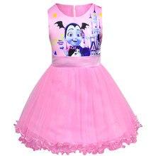 Girls Dress Vampirina Costumes Kids Dresses for Princess Party Halloween Girl Vampire Cosplay