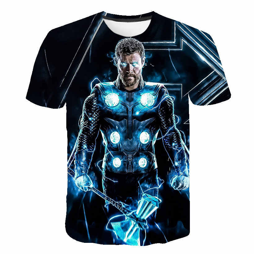 3D Super héros Avengers Thor le monde sombre Loki 3D impression T-shirt top T-shirts impression T-shirt à manches courtes col rond T-shirt