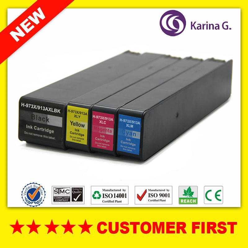 1Set compatible ink cartridge For HP973 HP913A suit for HP PageWide 352dw 377dw  Pro 452dw 452dn 452dwt 477dw hwdid 56xl 57xl ink cartridge compatible for hp 56 57 c6656a c6657a deskjet 450ci 5550 5552 7150 7350 7000 2100 220 printer