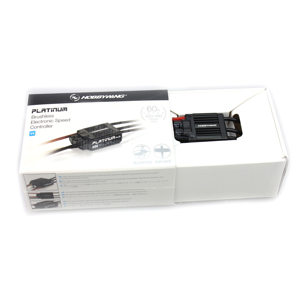 F17552/3 HobbyWing Platinum 50A / 60A V3/ V4 Brushless Electronic Speed controller ESC for RC Drone Heli FPV Multi-Rotor