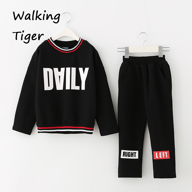 Children Tops + pants, girls clothes sets casual fashion thicken clothing trousers coat autumn 2017 new girls tops trousers clothes sets girl coat loose pants boutique outfits kids autumn 2017 new fashion children clothing suits