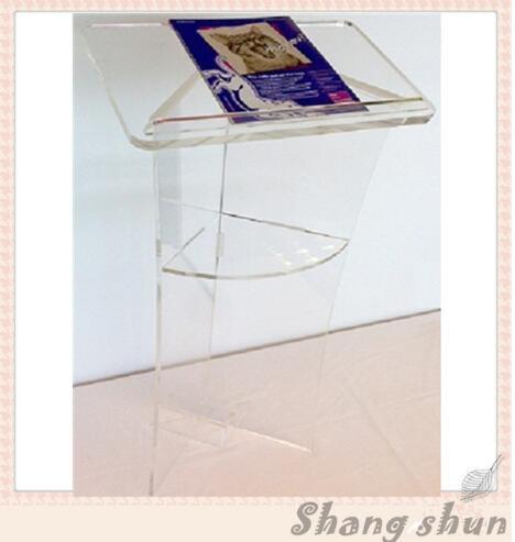 Free Shipping  Logo Customize Elegant Acrylic Podium Acrylic Rostrum Plexiglass Lectern Podium Church Pulpit