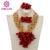 Envío Gratis 2017 Nueva Boda Nigeriano Beads Africanos Joyería Conjunto Rojo/Oro Indio Joyería Nupcial Conjunto de MOTO WB437