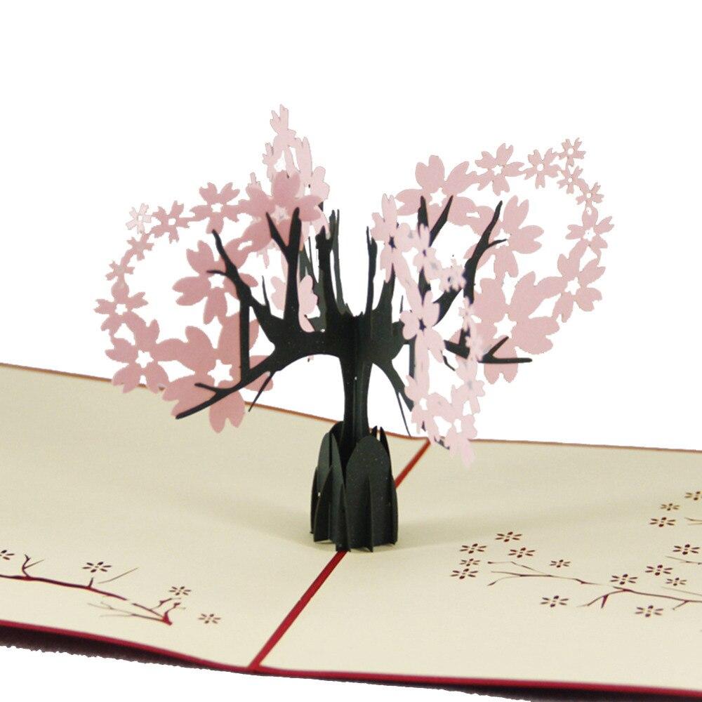 Business Custom Available Vintage Theme New Year 3D Sakura Cherry ...