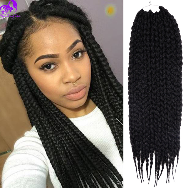 Synthetic 3s Box Braids Crochet Short Braid Hair Extensions Kanekalon Twist