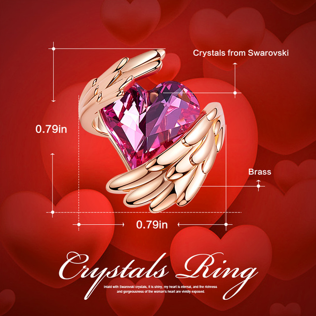 Crystals Ring - 18K Rose Gold Plated 3