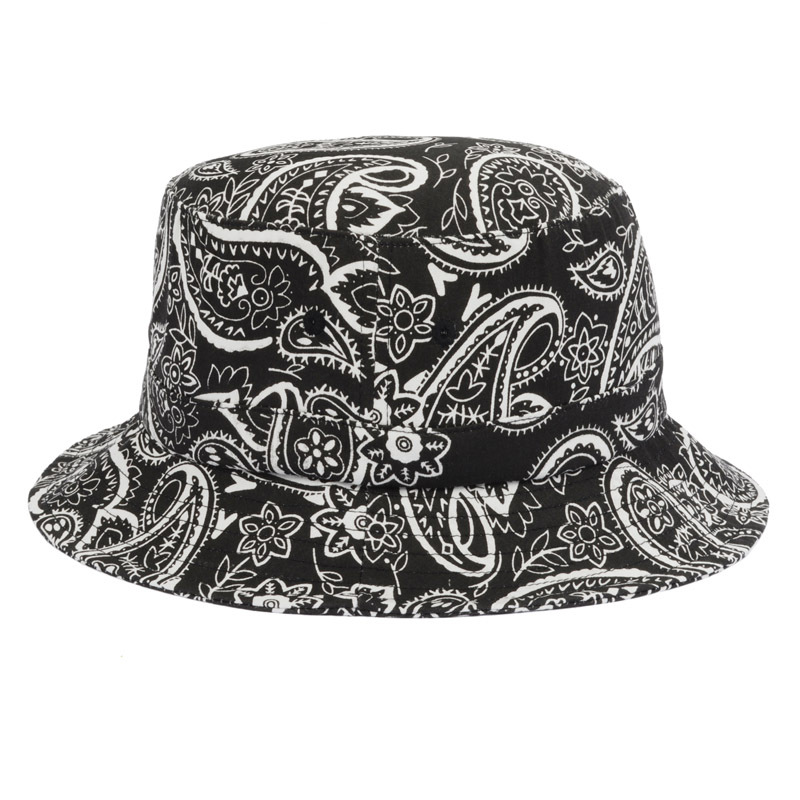 2015 New Summer Designer Bucket Hats For Women Black Bucket Hat Cotton  Paisley Black White Baseball Caps For Fishing Goldtop-in Bucket Hats from  Apparel ... 2a6454ceabca