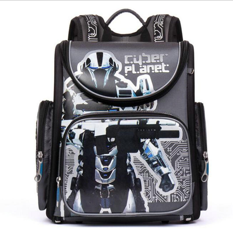 NEW 2016 Cartoon Red Racing School Bag Boys Orthopedic Backpack Children Satchel Elementary School Backpack for Boys Grade 1-4 2017 grade 1 3 5 princess girl new school backpack children cartoon cat kids backpack orthopedic school bag for boys
