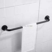 Bathroom 60CM Single Towel Bar Matte Black Finish Wall Mounted Towel Rack Towel Rail Stainless Steel Towel Holder