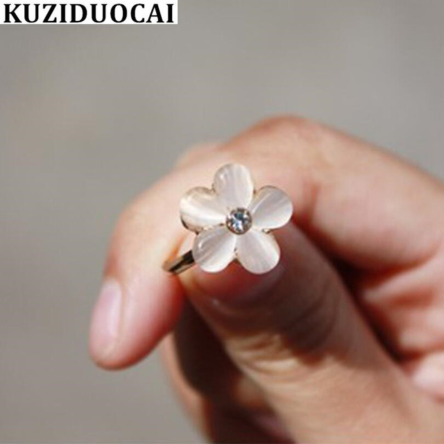 Kuziduocai New Fashion Jewelry Accessories Opal Rhinestone Clear Bright Five Pet
