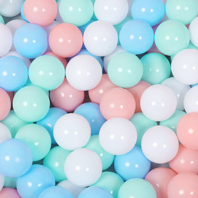 100 pcs/lot Eco-Friendly Colorful Ball Soft Plastic Ocean Ball Funny Baby Kid Swim Toy Water Pool Ocean Wave Ball 5.5cm