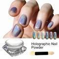 1 Box Holographic Laser Sliver Color Glitter Powder for Uv Nail Gel Polish Shinny Rainbow Holo Dust Chrome Pigments Art