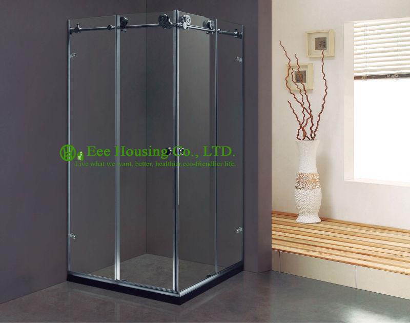 Shower Room Best Price Whole Shower 304 Stainless Steel Complete Square Sliding Mobile Frameless Sliding Tempered Glass