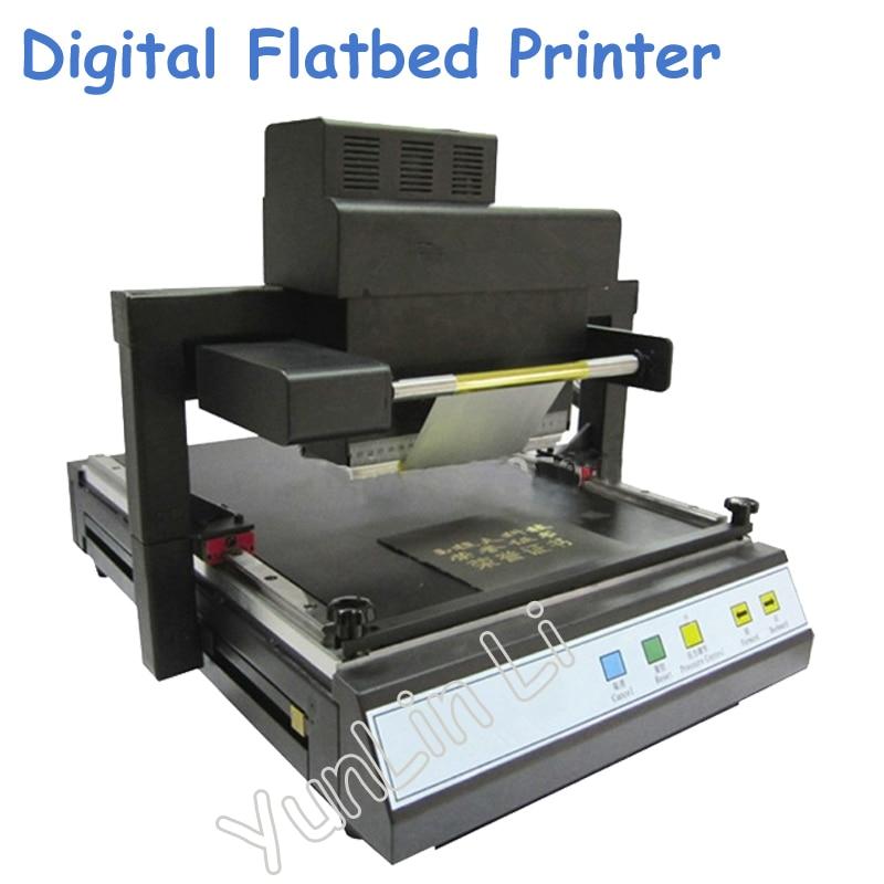 Digital Flatbed Printer Automatic Hot Stamping Machine Foil Printing Machine A3/A4 Book Cover Rotogravure TJ-219 цены