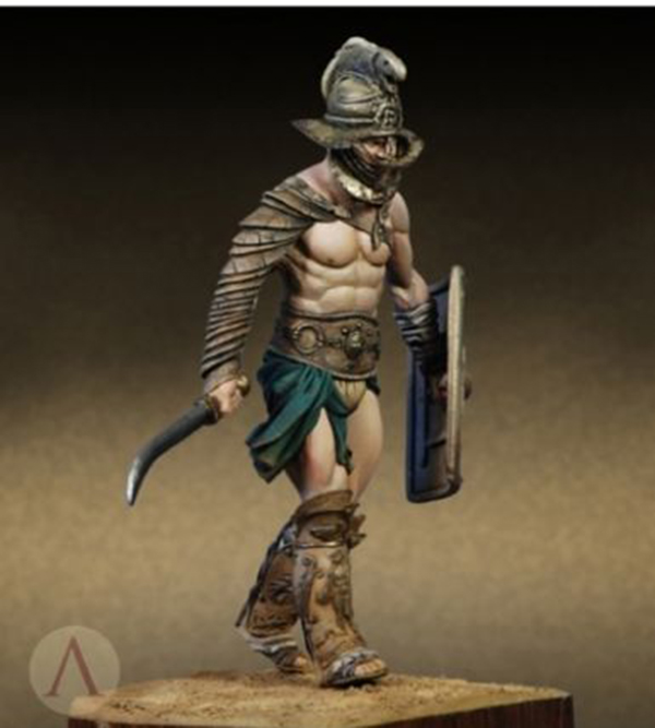 1/24 75mm Roman Thracian Gladiator 75mm     toy Resin Model Miniature resin figure Unassembly Unpainted celtic warrior