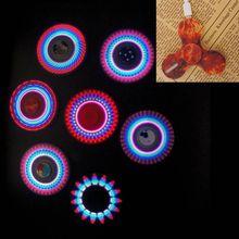 Hand Spinner Fluorescent Fidget Toy Glow in the Dark Fidget Spinner Luminous Light UP Shining Flash