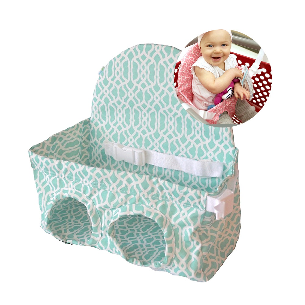 Portable Baby Shopping Cart Cushion Pad Kids Lunch Dinning Chair Seat Mat Foldab