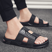 Slippers EVA Non-slip Outdoor Beach Flip Flops 2019 Summer Causal Shoes Slides Black Sandal 2015 nfl football mens locker label contour beach summer sandal flip flops