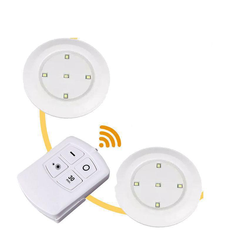 2 pieces/lot Wireless Remote Control Patting Led Lamp Cabinet Infant Feeding Body Light Decoration 12v Lightning Nightlight