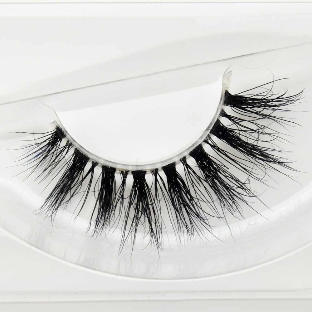 33ba3f92206 Visofree Mink Lashes 3D Mink Eyelashes Invisible Band Natural Black Mink  False Eyelash Full Strip cilios