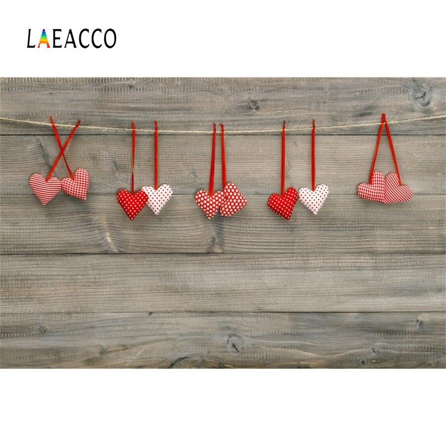 Laeacco любовь сердце деревянные доски Happy День Святого Валентина этап сцены фотографический фон фотографии задний план для фотостудии