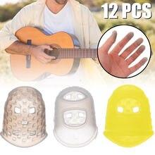 12 шт/компл силиконовые защитные пальчиковые гитары для укулеле