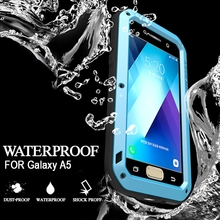 Водонепроницаемый чехол для Samsung Galaxy A5 2017 случаев из металла противоударный алюминиевый задняя крышка для Samsung A5 случае Роскошные Водонепроницаемый случае