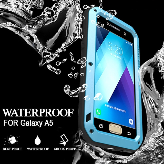 the latest b87cd 4a56c US $35.3 |Waterproof Case for Samsung Galaxy A5 2017 Cases Metal Shockproof  Aluminum Back Cover for Samsung A5 Case Luxury Waterproof Case-in Fitted ...